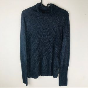 Angel Of The North Blue Savine Turtleneck Sweater